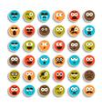 set emotion smiling faces vector image vector image