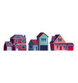 set houses homes country cottages buildings vector image