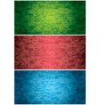 set of bright grunge style backgrounds vector image