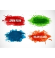Set of Bright splashes isolated on a white vector image vector image