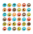set of emotion smiling faces vector image