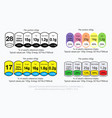 set of nutrition facts information label vector image vector image