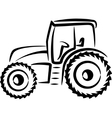 simple with a tractor vector image vector image