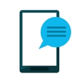 smartphone communication bubble speech vector image