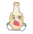 smirking apple cider isolated with mascot vector image vector image