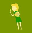 summer girl eating a ice-cream cartoon vector image vector image