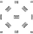 taximeter pattern seamless black vector image vector image