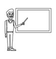 teacher with blackboard vector image