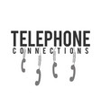 telephone connections phone hanging white backgrou vector image vector image