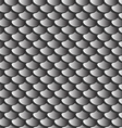 texture gray fish scales seamless pattern vector image vector image