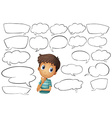 Thinking bubbles vector image vector image