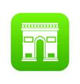 triumphal arch icon digital green vector image vector image