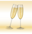 two glasses champagne holiday merry christmas vector image