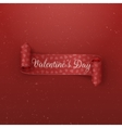 Valentines Day scroll Ribbon with greeting Text vector image