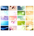 variety of 20 horizontal business cards templates vector image vector image