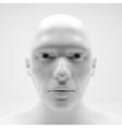 View of Human Head Stipple Effect Art vector image vector image