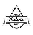 World Malaria day greeting emblem vector image vector image