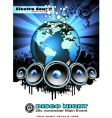 world music event background vector image vector image