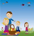 family in picnic vector image