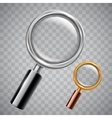 Silver and Golden Magnifying Glass vector image