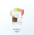 3D Cube abstract design vector image