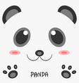 abstract drawing animal panda picture 2d design vector image