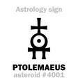 astrology asteroid ptolemaeus vector image