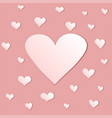 background with hearts in beige color gamma vector image vector image