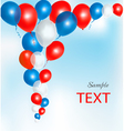 background with red and blue ballons vector image vector image