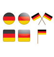 badges with German flag vector image