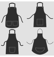 Black apron set vector image vector image