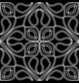 braided floral black and white seamless pattern vector image vector image