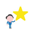businessman character holding star vector image