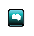 button of cloud vector image vector image