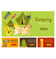camping banners set vector image