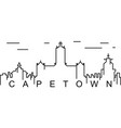 cape town outline icon can be used for web logo vector image