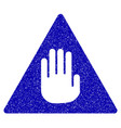 caution icon grunge watermark vector image vector image