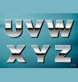 chrome letters with landscape relection vector image