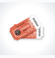 cinema tickets realistic detailed vector image