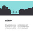 city silhouette with river vector image vector image