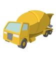 Concrete mixer cartoon yellow symbol vector image