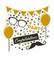 congratulations grad celebration card vector image vector image