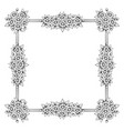 daisy flowers square frame vector image vector image