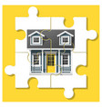 dream house concept with completed puzzle house vector image