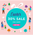 easter sale template vector image vector image