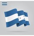 Flat and waving Honduras Flag vector image vector image