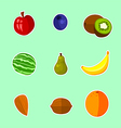 Fruits - set vector image vector image