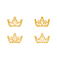golden crown symbols vector image vector image