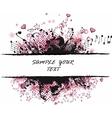 grunge border pink vector image