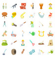 handicraft icons set cartoon style vector image vector image